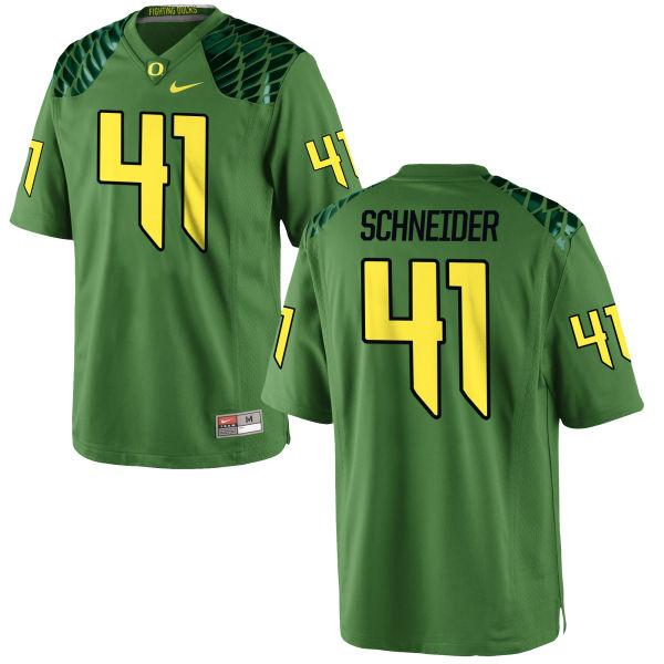 Men's Nike Aidan Schneider Oregon Ducks Authentic Green Alternate Football Jersey Apple