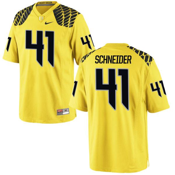 Men's Nike Aidan Schneider Oregon Ducks Game Gold Football Jersey
