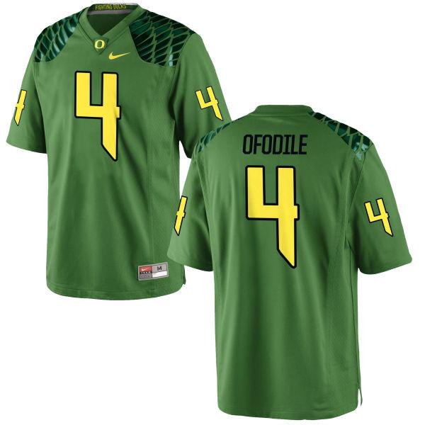 Men's Nike Alex Ofodile Oregon Ducks Game Green Alternate Football Jersey Apple