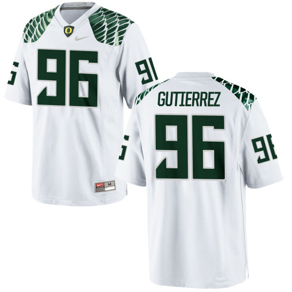 Men's Nike Anthony Gutierrez Oregon Ducks Replica White Football Jersey