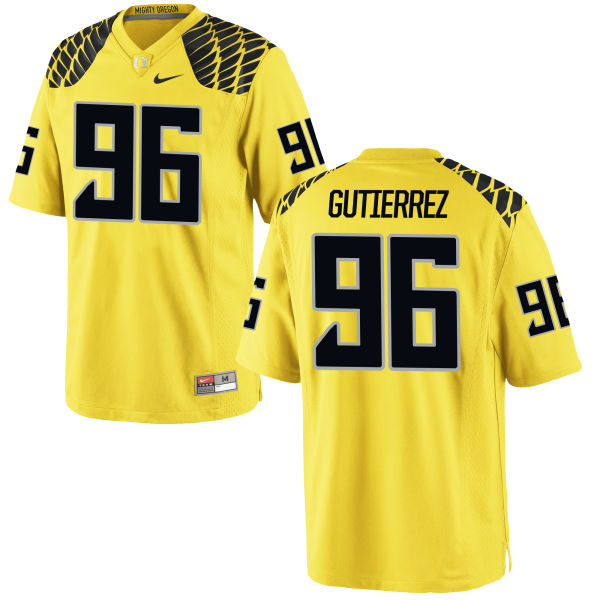Men's Nike Anthony Gutierrez Oregon Ducks Game Gold Football Jersey