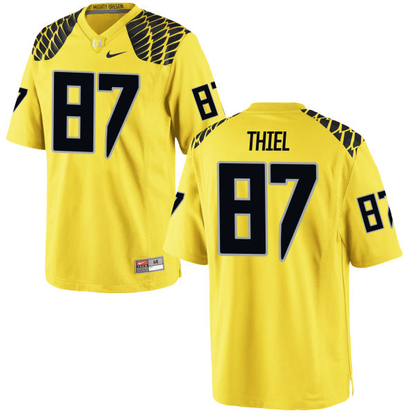 Men's Nike Ben Thiel Oregon Ducks Authentic Gold Football Jersey
