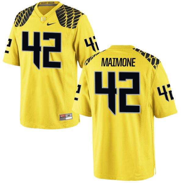 Men's Nike Blake Maimone Oregon Ducks Authentic Gold Football Jersey