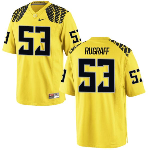 Men's Nike Blake Rugraff Oregon Ducks Game Gold Football Jersey