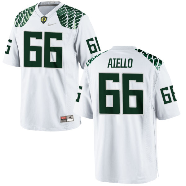 Men's Nike Brady Aiello Oregon Ducks Authentic White Football Jersey