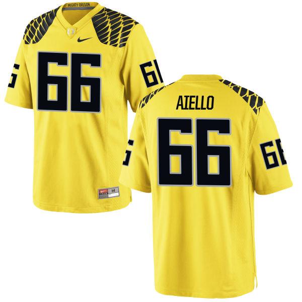 Men's Nike Brady Aiello Oregon Ducks Game Gold Football Jersey