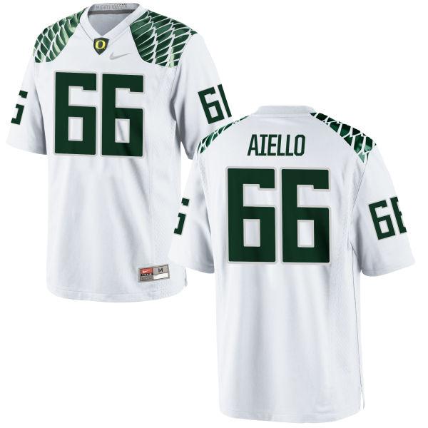Men's Nike Brady Aiello Oregon Ducks Limited White Football Jersey