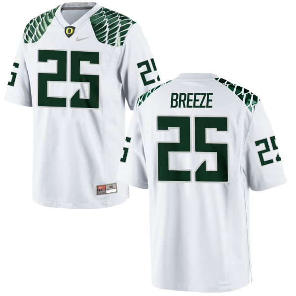 Men's Nike Brady Breeze Oregon Ducks Game White Football Jersey