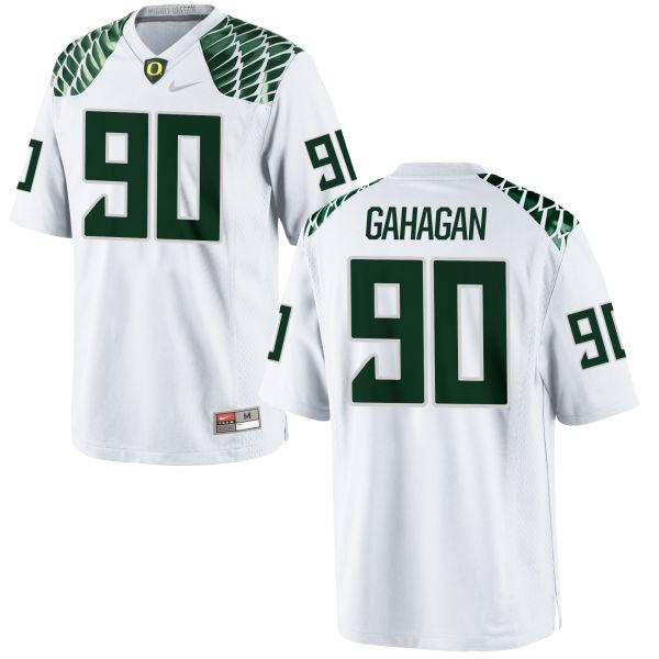 Men's Nike Brandon Gahagan Oregon Ducks Game White Football Jersey