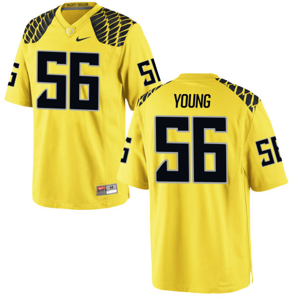 Men's Nike Bryson Young Oregon Ducks Authentic Gold Football Jersey
