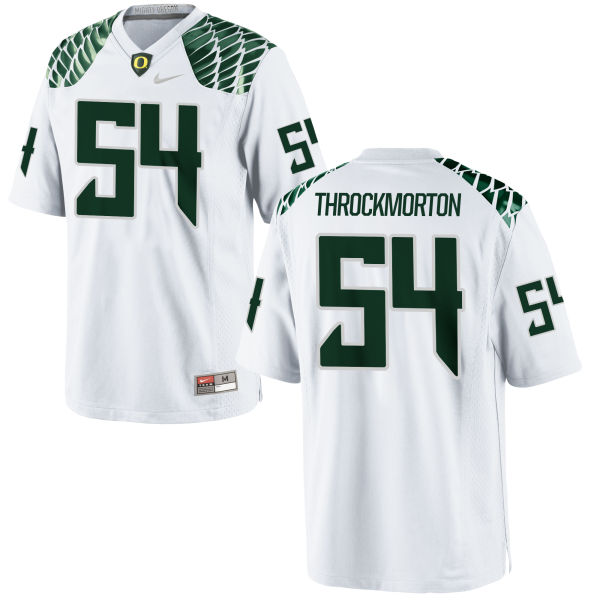 Youth Nike Calvin Throckmorton Oregon Ducks Authentic White Football Jersey
