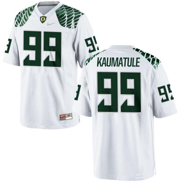 Men's Nike Canton Kaumatule Oregon Ducks Limited White Football Jersey