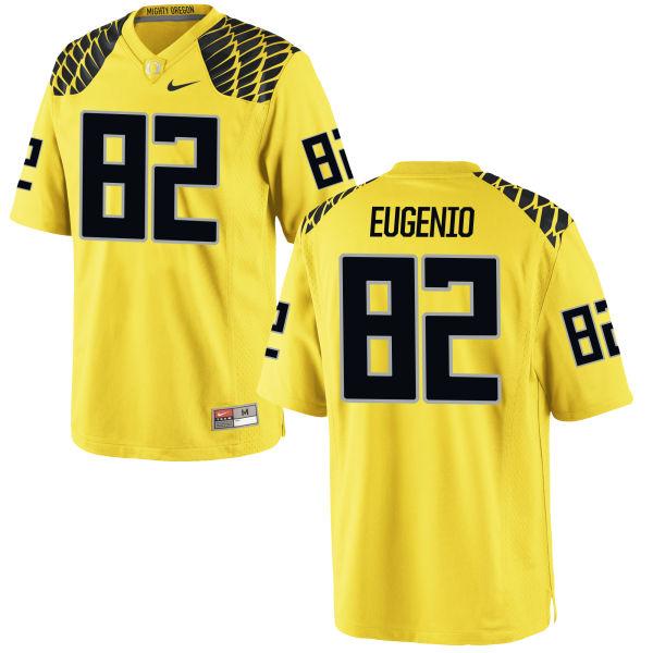 Men's Nike Casey Eugenio Oregon Ducks Game Gold Football Jersey
