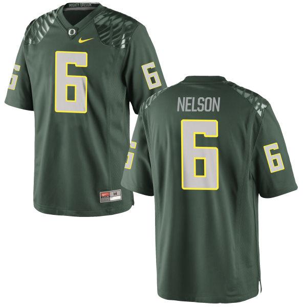 Men's Nike Charles Nelson Oregon Ducks Replica Green Football Jersey