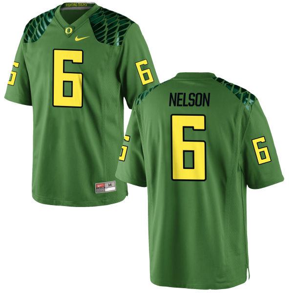 Men's Nike Charles Nelson Oregon Ducks Replica Green Alternate Football Jersey Apple