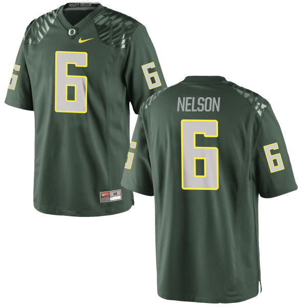 Men's Nike Charles Nelson Oregon Ducks Game Green Football Jersey