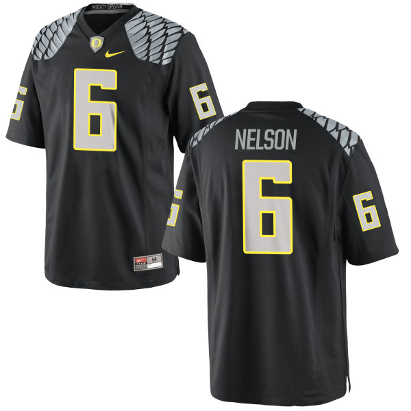 Youth Nike Charles Nelson Oregon Ducks Replica Black Jersey