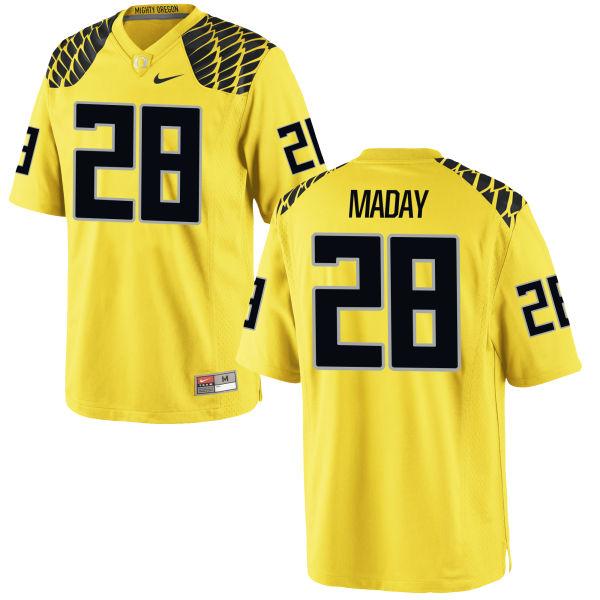 Men's Nike Chayce Maday Oregon Ducks Game Gold Football Jersey