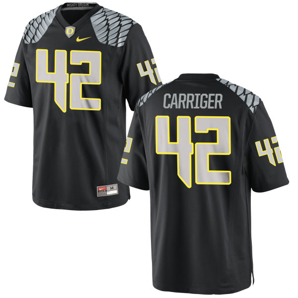Men's Nike Cody Carriger Oregon Ducks Game Black Jersey