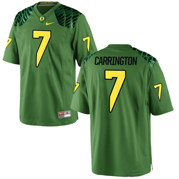 Men's Nike Darren Carrington II Oregon Ducks Replica Green Alternate Football Jersey Apple