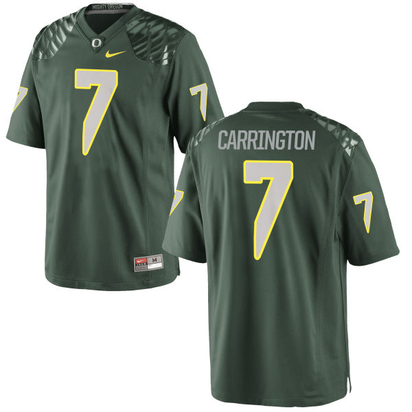 Men's Nike Darren Carrington II Oregon Ducks Game Green Football Jersey