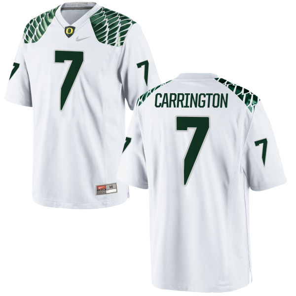 Men's Nike Darren Carrington II Oregon Ducks Game White Football Jersey