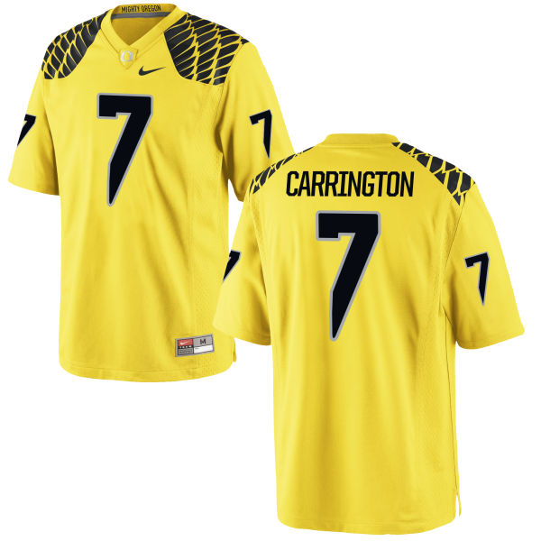 Men's Nike Darren Carrington II Oregon Ducks Game Gold Football Jersey