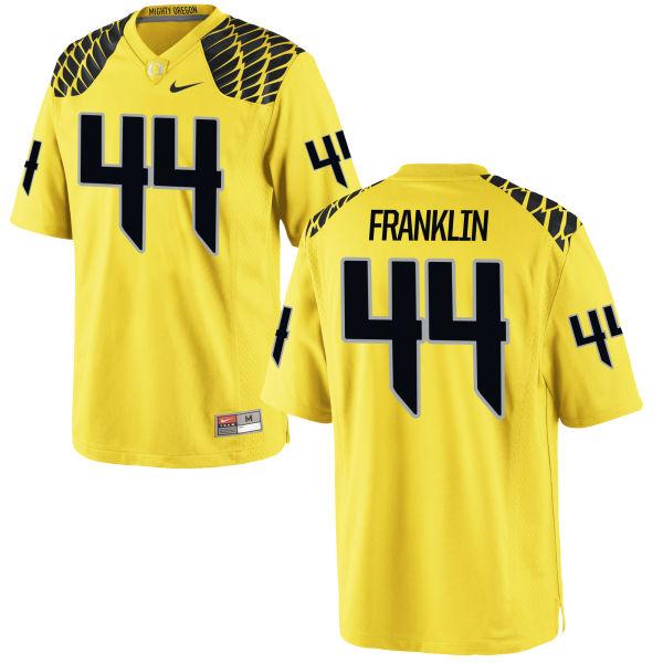 Men's Nike Darrian Franklin Oregon Ducks Game Gold Football Jersey