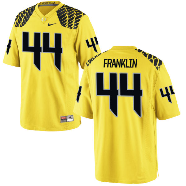 Men's Nike Darrian Franklin Oregon Ducks Limited Gold Football Jersey