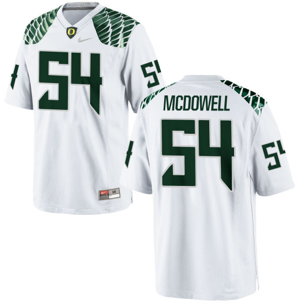 Men's Nike De'Quan McDowell Oregon Ducks Replica White Football Jersey