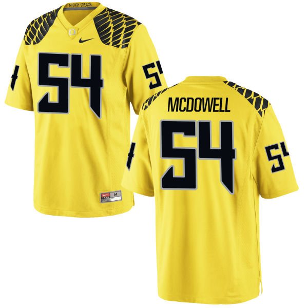 Men's Nike De'Quan McDowell Oregon Ducks Game Gold Football Jersey