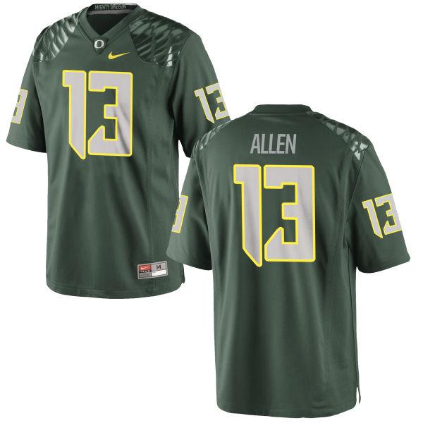 Men's Nike Devon Allen Oregon Ducks Authentic Green Football Jersey