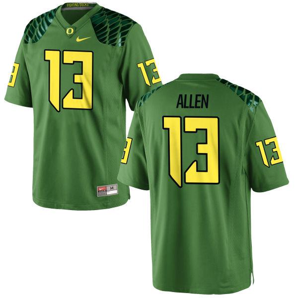 Men's Nike Devon Allen Oregon Ducks Authentic Green Alternate Football Jersey Apple