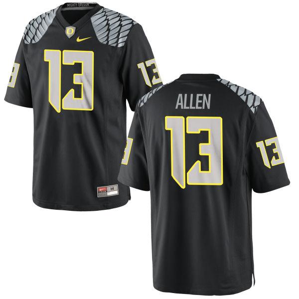 Men's Nike Devon Allen Oregon Ducks Authentic Black Jersey