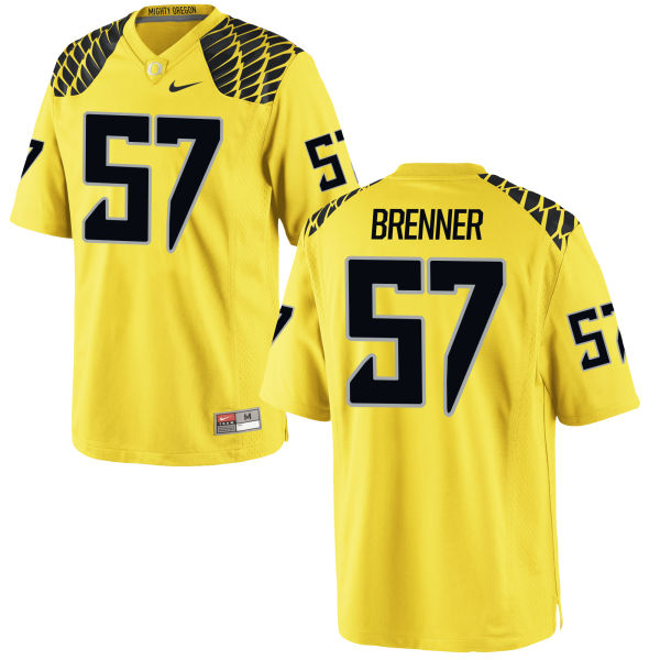 Men's Nike Doug Brenner Oregon Ducks Replica Gold Football Jersey