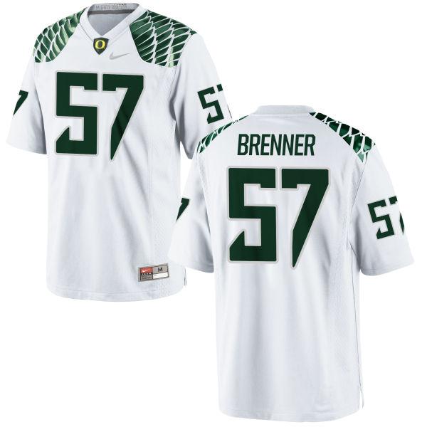 Men's Nike Doug Brenner Oregon Ducks Authentic White Football Jersey