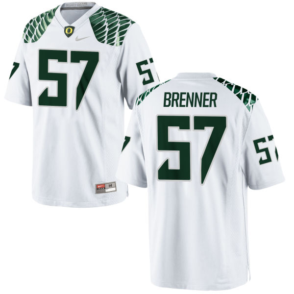 Youth Nike Doug Brenner Oregon Ducks Replica White Football Jersey