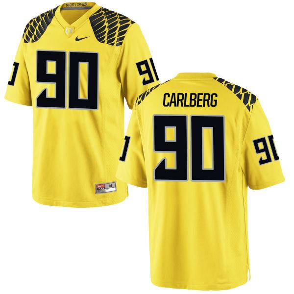 Men's Nike Drayton Carlberg Oregon Ducks Authentic Gold Football Jersey
