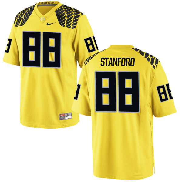 Men's Nike Dwayne Stanford Oregon Ducks Game Gold Football Jersey