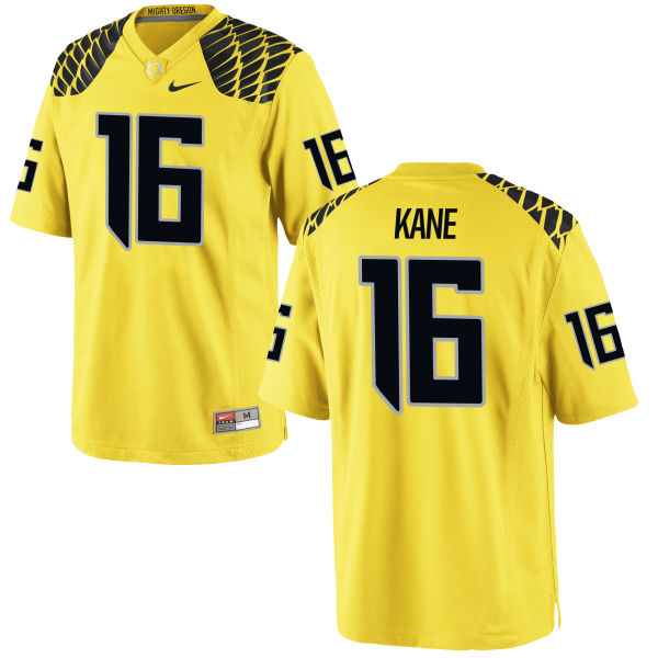 Men's Nike Dylan Kane Oregon Ducks Game Gold Football Jersey
