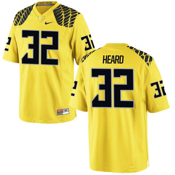 Men's Nike Eddie Heard Oregon Ducks Limited Gold Football Jersey