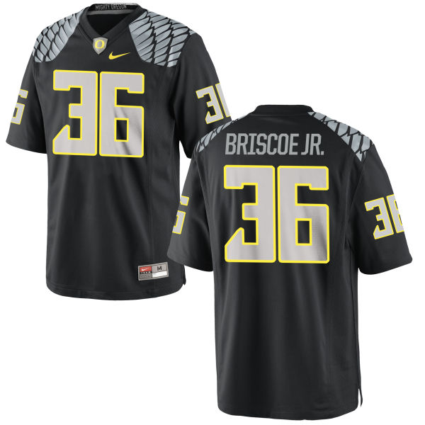 Men's Nike Eric Briscoe Jr. Oregon Ducks Replica Black Jersey