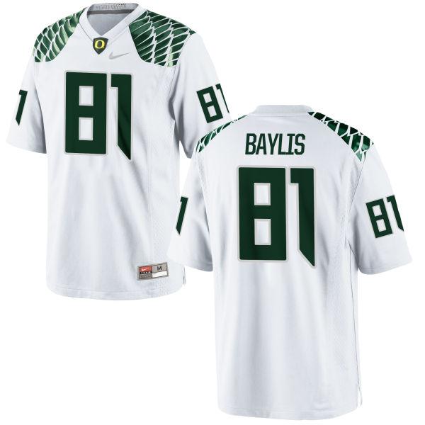 Men's Nike Evan Baylis Oregon Ducks Replica White Football Jersey