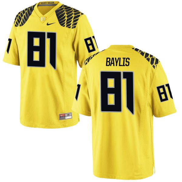 Men's Nike Evan Baylis Oregon Ducks Replica Gold Football Jersey