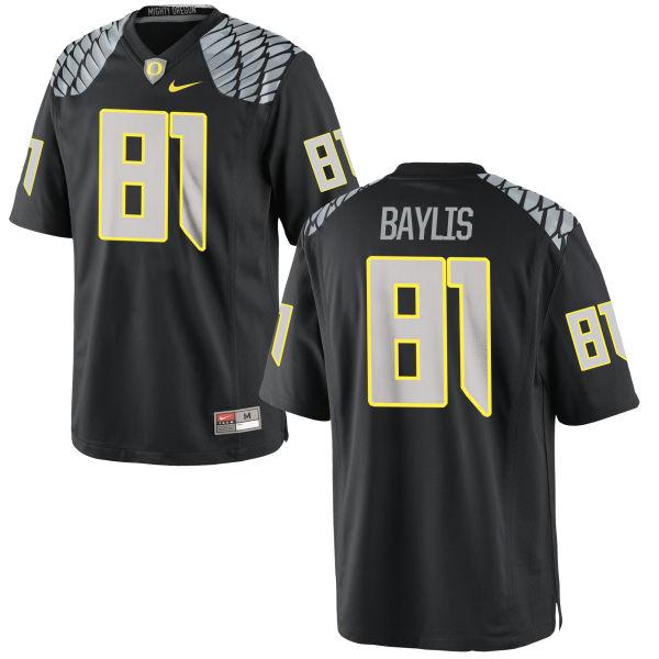 Men's Nike Evan Baylis Oregon Ducks Game Black Jersey