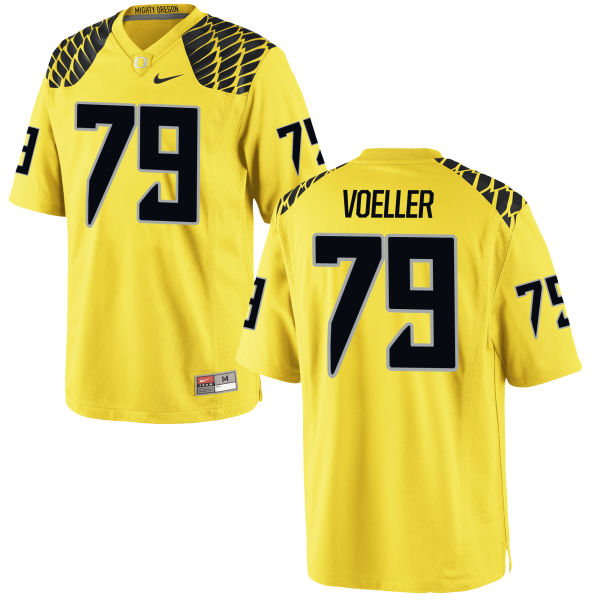Men's Nike Evan Voeller Oregon Ducks Replica Gold Football Jersey