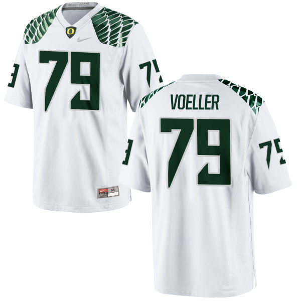 Men's Nike Evan Voeller Oregon Ducks Authentic White Football Jersey
