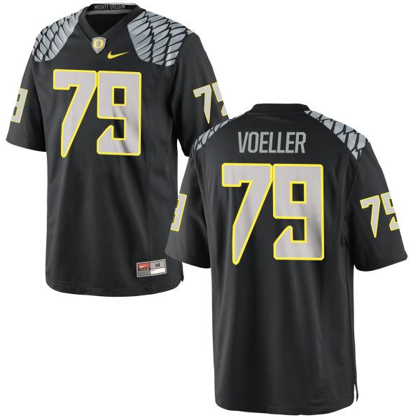 Men's Nike Evan Voeller Oregon Ducks Authentic Black Jersey
