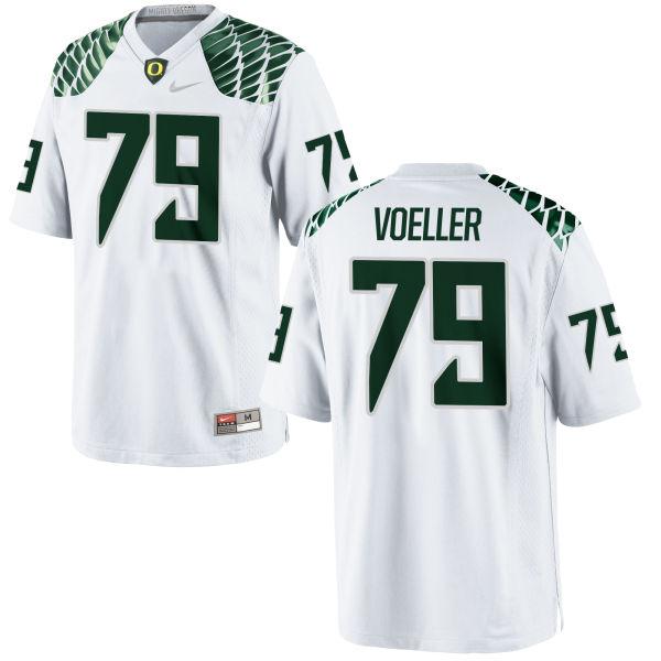 Men's Nike Evan Voeller Oregon Ducks Game White Football Jersey