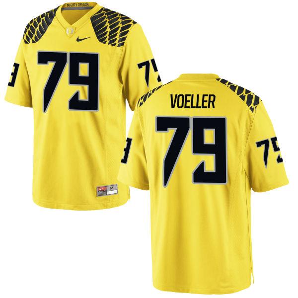 Men's Nike Evan Voeller Oregon Ducks Game Gold Football Jersey